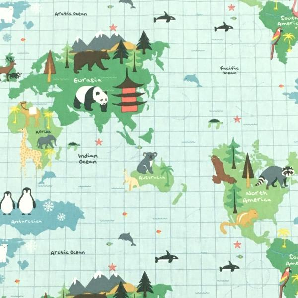 Kids World Map Multicolour